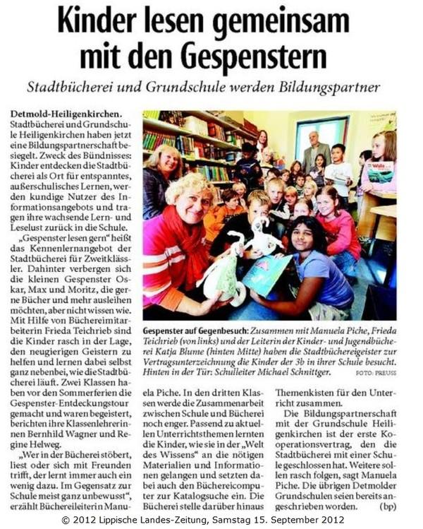 Kooperation: Stadtbücherei - GS Heiligenkirchen